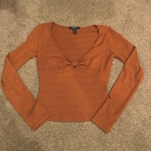 🔅burnt orange long sleeve crop top🔅